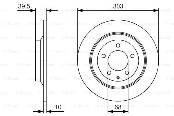 Тормозной диск BOSCH 0 986 479 V04