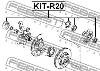 Пiдшипник ступицi колеса FEBEST KIT-R20